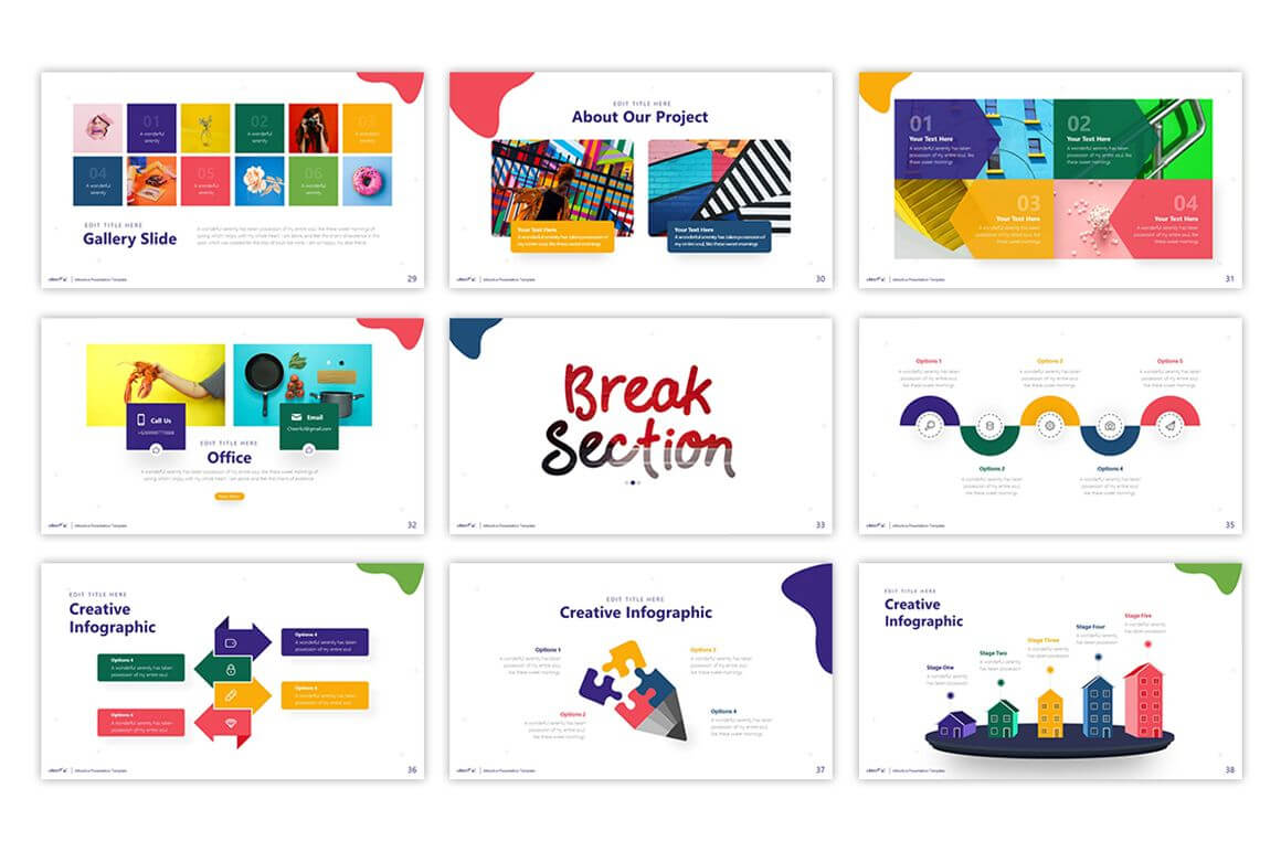 Cheerful – Attractive Powerpoint Template #75495   Templates With Pretty Powerpoint Templates