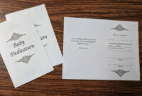 Child / Baby Dedication Certificate (Free Printable Template In Baby Dedication Certificate Template