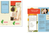 Child Care Brochure Template 6 within Daycare Brochure Template