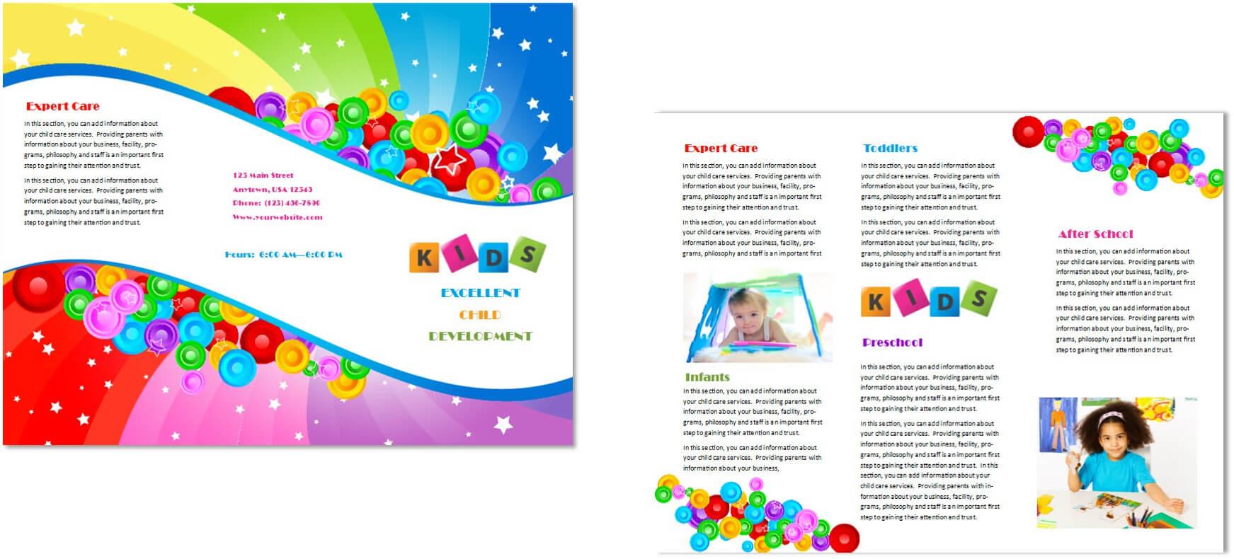 Child Care Brochure Template 7 Regarding Daycare Brochure Template