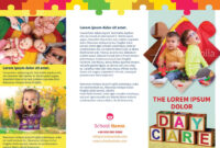 Child Day-Care Brochure Template | Aste/jcom 3090 Design with regard to Daycare Brochure Template