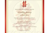 Chinese Wedding Invitation | Chinese Wedding Invitation Card with Church Wedding Invitation Card Template