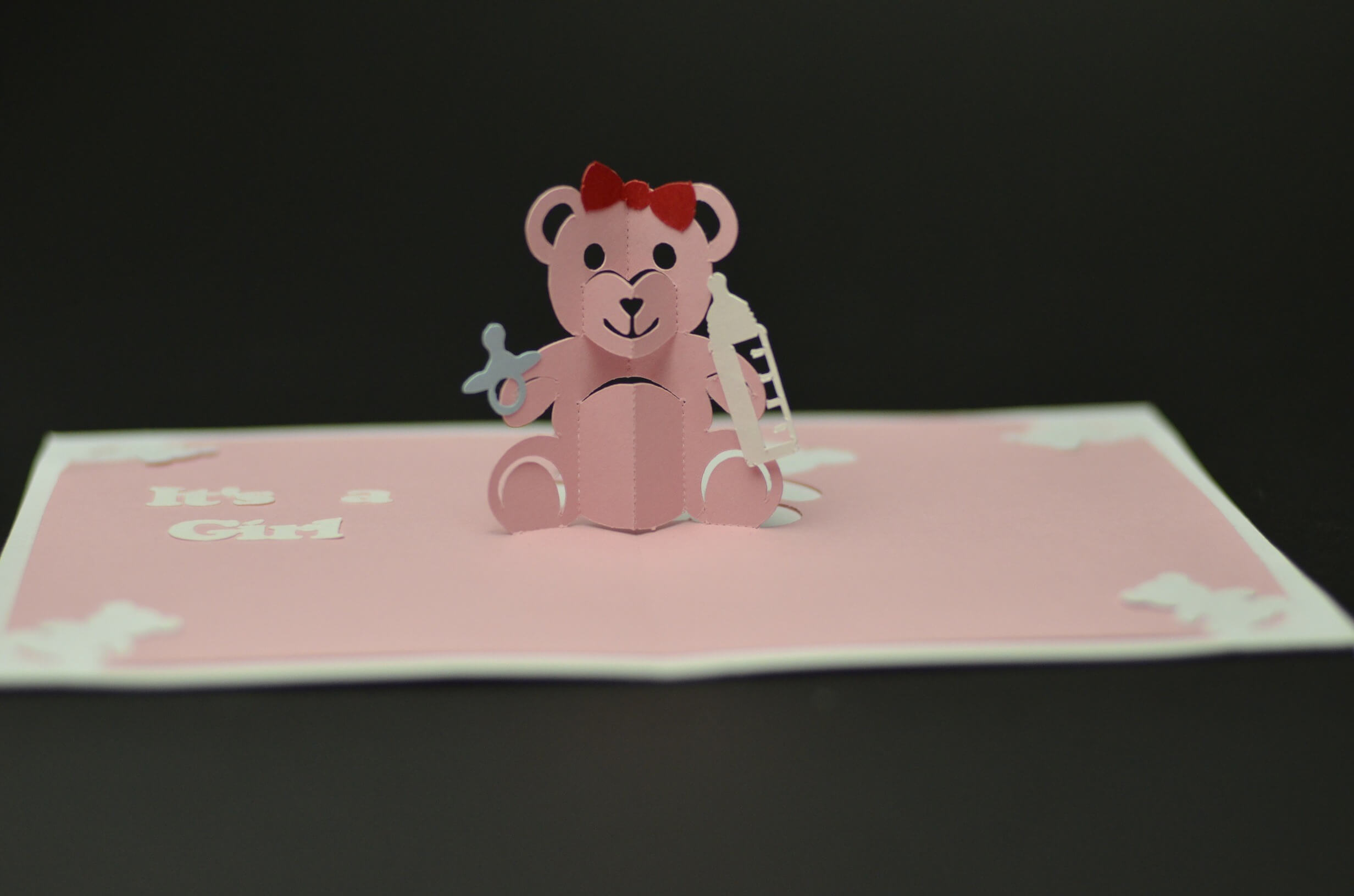 Chocoviolet: How To Make Teddy Bear Pop Up Card For Wedding Pop Up Card Template Free