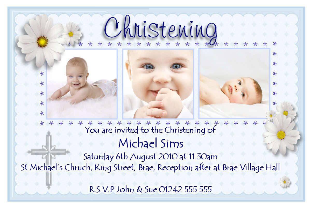Christening Invitation Cards : Christening Invitation Cards Throughout Free Christening Invitation Cards Templates