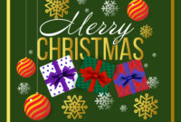 Christmas Banner Template Background With Merry throughout Merry Christmas Banner Template