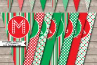 Christmas Banner Template – Red & Green | Merry Christmas with Merry Christmas Banner Template