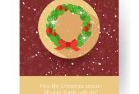 Christmas Brochure Template Abstract Typographical within Christmas Brochure Templates Free