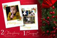 Christmas Card Photoshop Template 5X7 in Christmas Photo Card Templates Photoshop