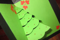 Christmas Card Pop Up Template | Decorating Ideas For Pop Up Tree Card Template