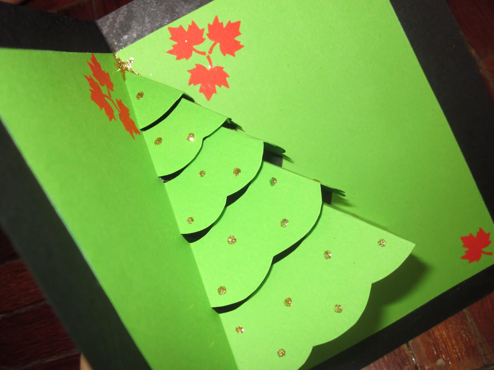 Christmas Card Pop Up Template   Decorating Ideas For Pop Up Tree Card Template
