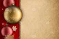 Christmas Card Template – Baulbles And Stars Stock regarding Blank Christmas Card Templates Free