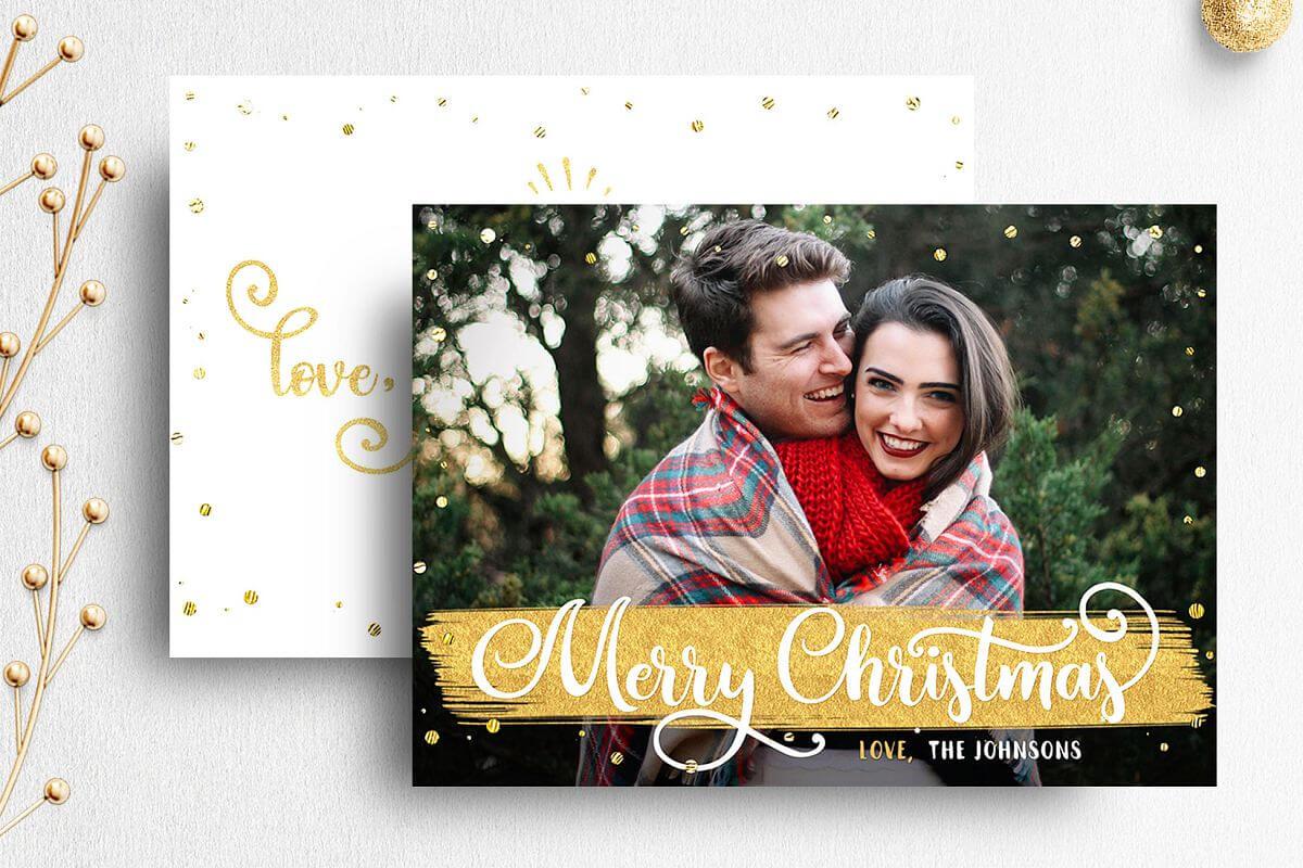 Christmas Card Template For Photographer | 007 Pertaining To Holiday Card Templates For Photographers