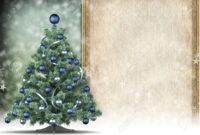 Christmas Card Template – Xmas Tree And Blank Space For Text throughout Blank Christmas Card Templates Free