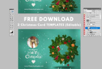 Christmas Card Templates For Photoshop | Christmas Card in Christmas Photo Card Templates Photoshop