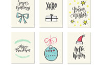 Christmas Card Templates inside Christmas Note Card Templates