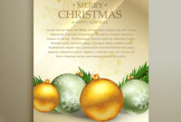 Christmas Flyer Template Design With Realistic regarding Christmas Brochure Templates Free