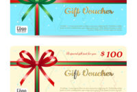 Christmas Gift Card Or Gift Voucher Template regarding Christmas Gift Certificate Template Free Download