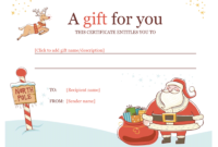 Christmas Gift Certificate – Download A Free Personalized with Christmas Gift Certificate Template Free Download