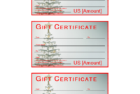 Christmas Gift Certificate Sample | Templates At for Merry Christmas Gift Certificate Templates