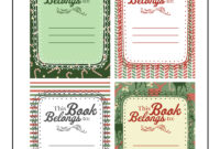 Christmas Gift Printable Bookplates | Woo! Jr. Kids Activities in Bookplate Templates For Word