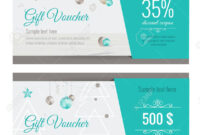 Christmas Gift Voucher Coupon Discount. Gift Certificate Template.. with Merry Christmas Gift Certificate Templates