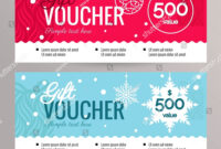 Christmas Gift Voucher Coupon Discount Gift Stock Vector pertaining to Merry Christmas Gift Certificate Templates