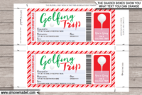 Christmas Golfing Trip Tickets within Golf Gift Certificate Template