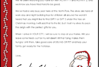 Christmas Letter Borders And Templates Letter Templates throughout Letter From Santa Template Word