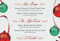Christmas Menu Template V1Thats Design Store #ad inside Cocktail Menu Template Word Free
