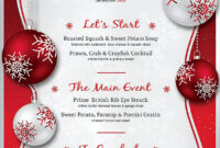 Christmas Menu Template V4 #size#cm#psd#photoshop with Free Christmas Invitation Templates For Word