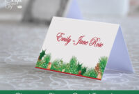 Christmas Place Name Card Template | Easy To Edit And Print regarding Foldable Card Template Word