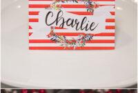 Christmas Table Place Cards { Free Printable} – Six Clever regarding Christmas Table Place Cards Template