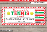 Christmas Tennis Gift Tickets with regard to Tennis Gift Certificate Template