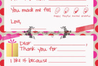 Christmas Thank You Note Template For Kids | Five Marigolds for Christmas Note Card Templates