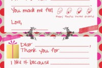 Christmas Thank You Note Template For Kids | Www for Christmas Thank You Card Templates Free