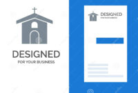 Church, Celebration, Christian, Cross, Easter Grey Logo intended for Christian Business Cards Templates Free