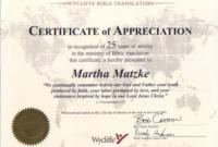 Church Certificate Of Appreciation Erin Design Template with regard to Anniversary Certificate Template Free