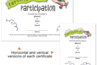 Church Certificate Template For Participation In Vbs, Sunday within Vbs Certificate Template