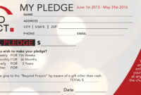 Church Pledge Form Template Hausn3Uc | Free Business Card inside Fundraising Pledge Card Template