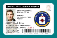 Cia Id Card Badge Prop Liam Neeson | Liam Neeson, Central with Mi6 Id Card Template