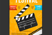 Cinema Movie Festival Poster Card Template within Film Festival Brochure Template