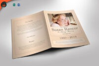 Classic Funeral Program Word 2013 And Publisher Template 8.5 within Word 2013 Brochure Template