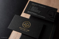 Classic Modern Black Duplex Attorney Business Card Template Intended For Lawyer Business Cards Templates