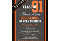 Classy Formal High School Reunion Invitation | Zazzle throughout Reunion Invitation Card Templates