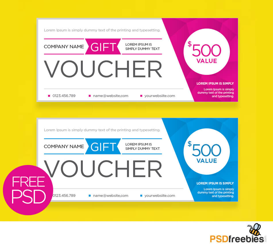 Clean And Modern Gift Voucher Template Psd | Psdfreebies Intended For Gift Certificate Template Photoshop