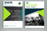 Clean Brochure Cover Template With Blured City for Cleaning Brochure Templates Free