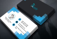 Clean Modern Business Card Design — Photoshop Tutorial for Create Business Card Template Photoshop