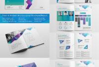 Clean Modern Multipurpose Brochurereport | Indesign Brochure inside Cleaning Brochure Templates Free