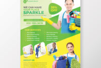 Cleaning Flyer Template On Student Show inside Commercial Cleaning Brochure Templates