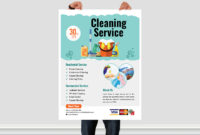 Cleaning Service Flyer Templatear Xihad On Dribbble in Commercial Cleaning Brochure Templates